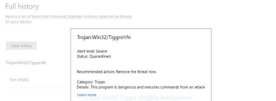 Trojan Win32 Tiggre rfn
