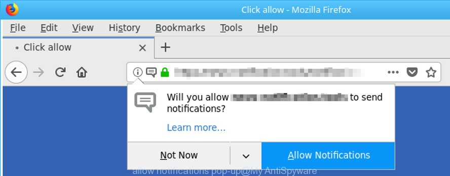 allow notifications pop-up