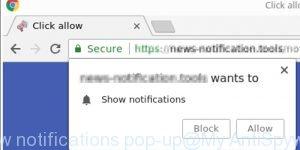 show notifications pop-up