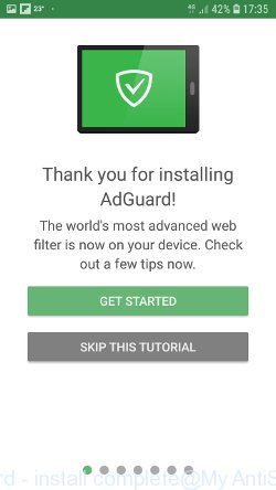 AdGuard - install complete