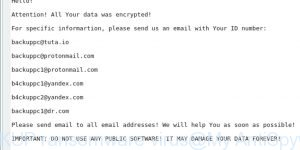 BACKUP ransomware virus