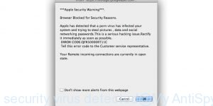 apple security virus detected