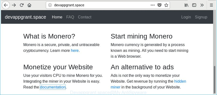 How to remove Devappgrant space CPU Miner [Chrome, Firefox, IE, Edge]