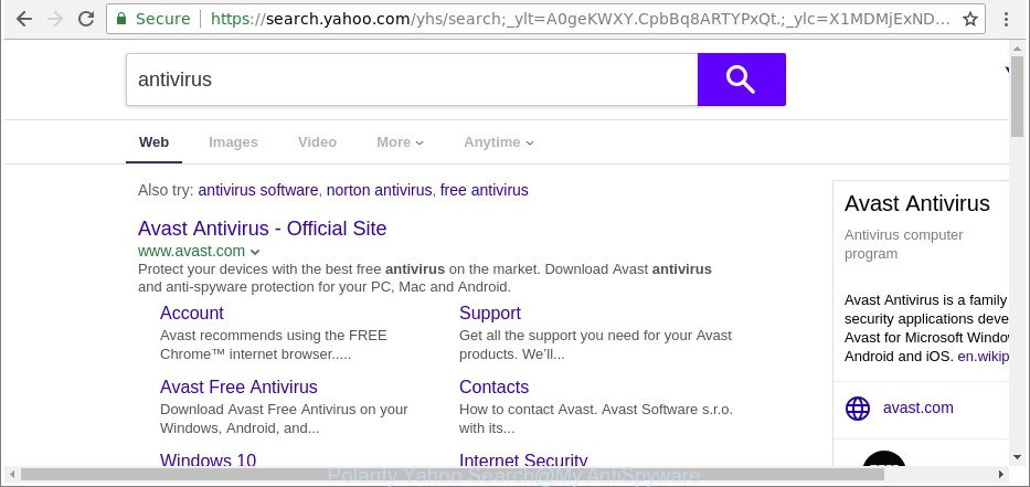 Polarity Yahoo Search