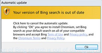 Your version of Bing search is out of date
