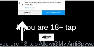 if you are 18 tap Allow