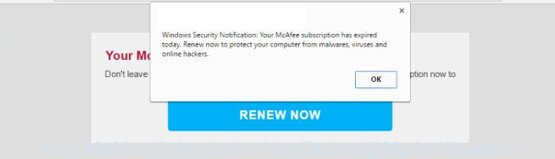 Your McAfee Subscription Has Expired