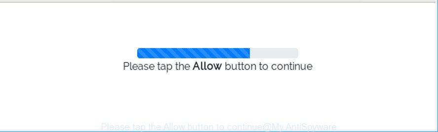 Please tap the Allow button to continue