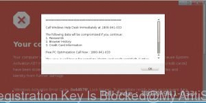 Your Registration Key Is Blocked
