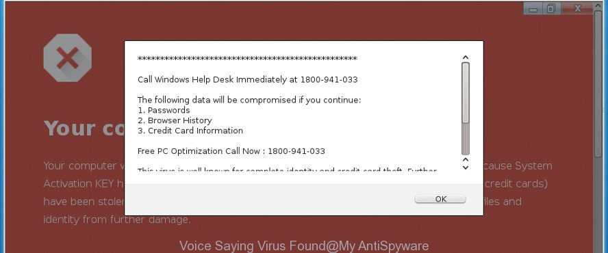 Voice Saying Virus Found