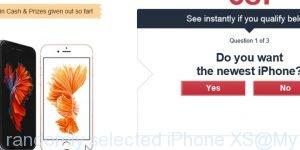 You've been randomly selected iPhone XS