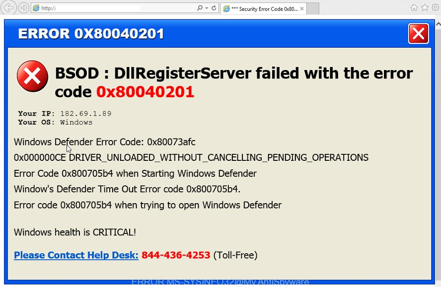 ERROR # MS-SYSINFO32 scam