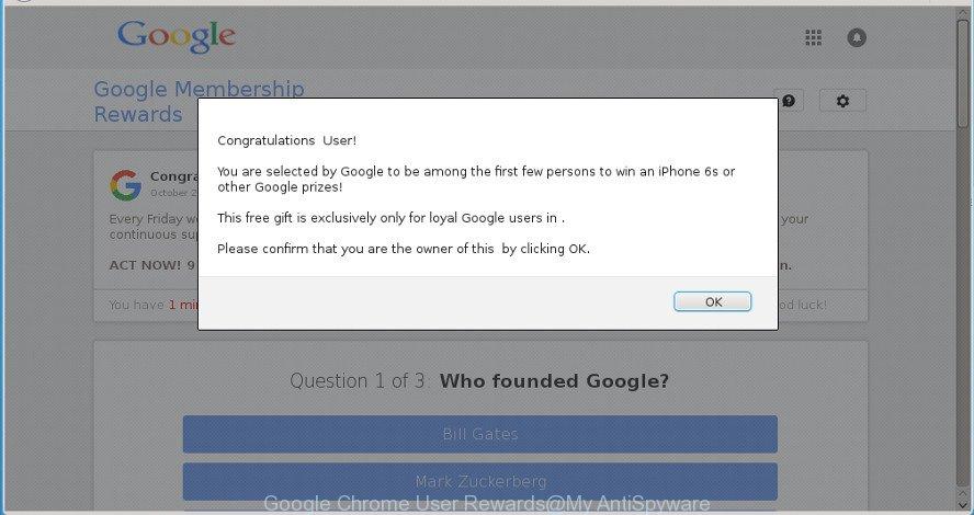 Google Chrome User Rewards