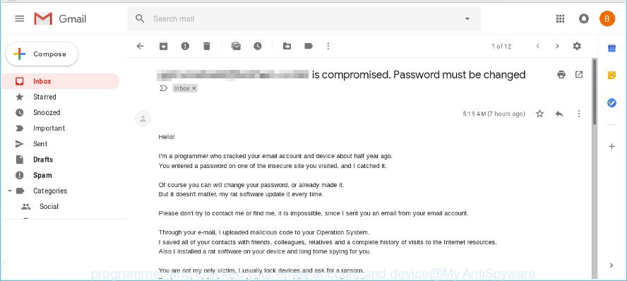 programmer who cracked your email account and device