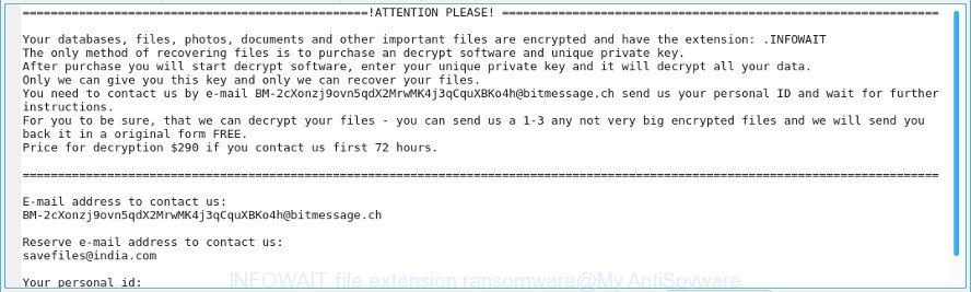 INFOWAIT file extension ransomware