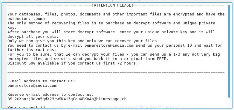 .Puma file extension ransomware