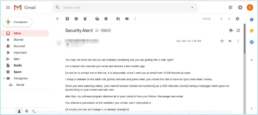 You may not know me and you are probably wondering email scam