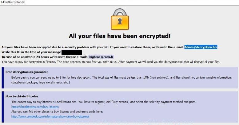 Remove Admin@decryption biz Bkpx ransomware (Restore  bkpx files)