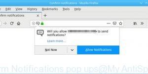 Confirm Notifications pop ups