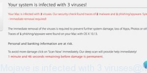 MacOS 10.14 Mojave is infected with 3 viruses