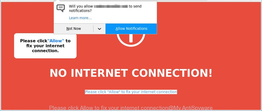 Please click Allow to fix your internet connection