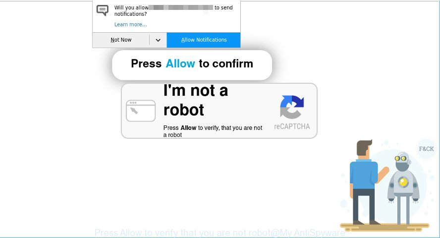 Press Allow to verify that you are not robot