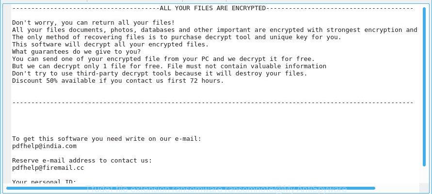 Tfudet file extension ransomware ransomnote