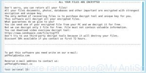 Tro ransomware ransomnote