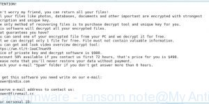 Blower Ransomware - ransom note
