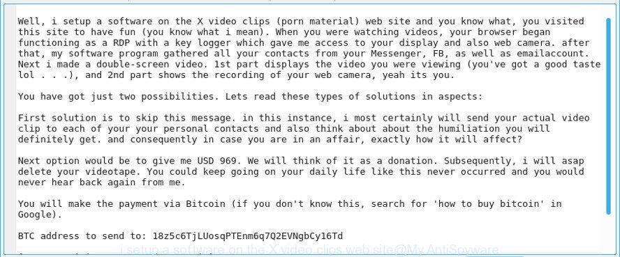 i setup a software on the X video clips web site