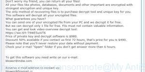 Kropun ransomware ransomnote