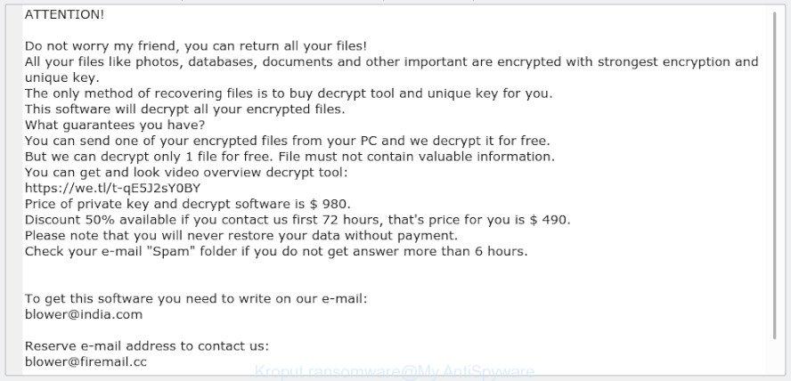 Kroput ransomware