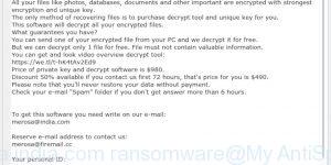 Merosa@india.com ransomware