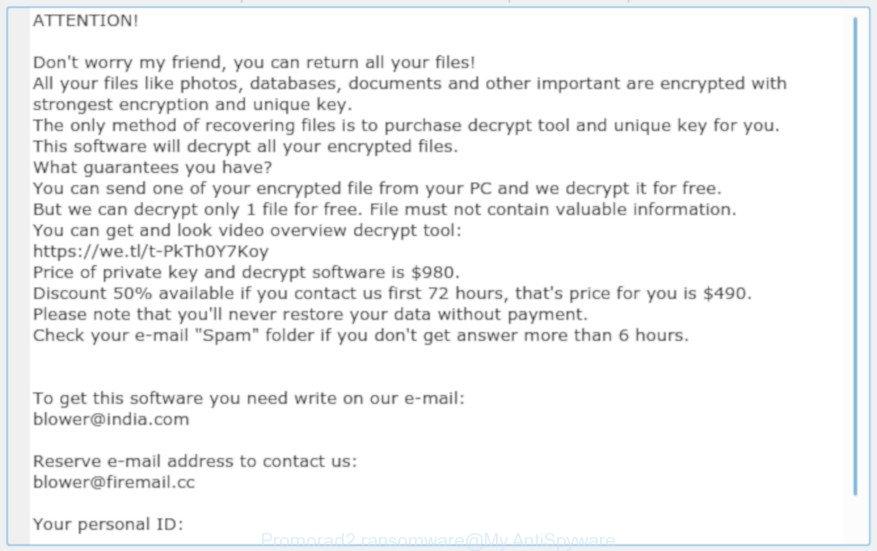 Promorad2 ransomware