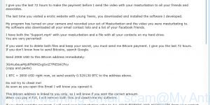 This is my final warning email scam