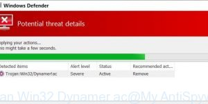Trojan Win32/Dynamer!ac