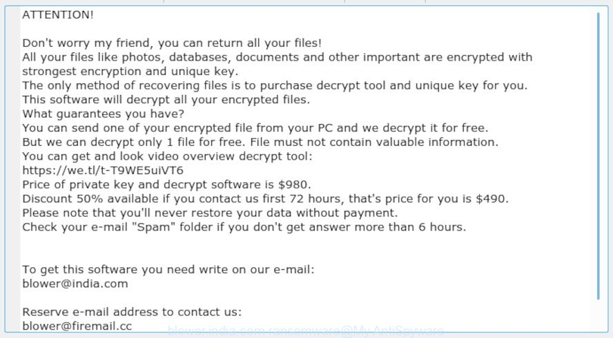 blower.india.com ransomware
