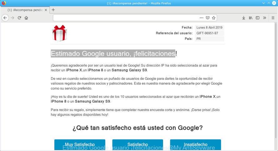 Estimado Google usuario, ¡felicitaciones!