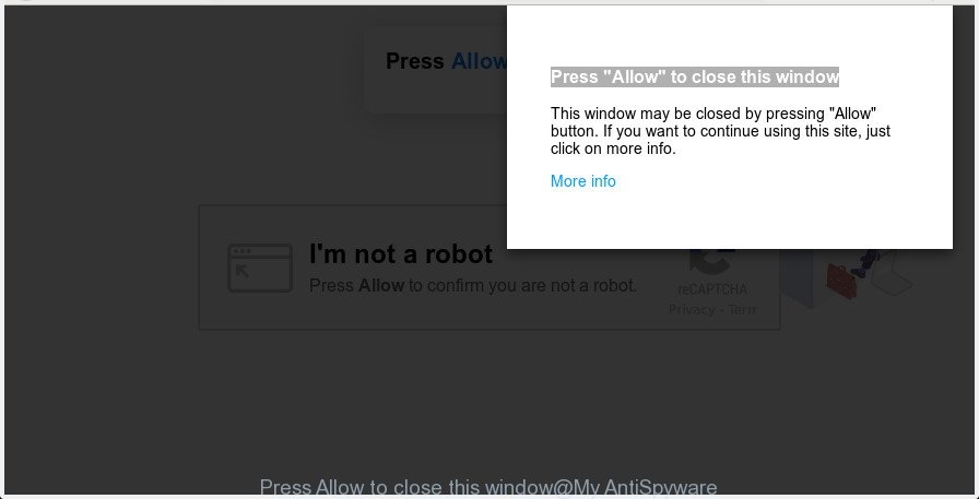 Press Allow to close this window