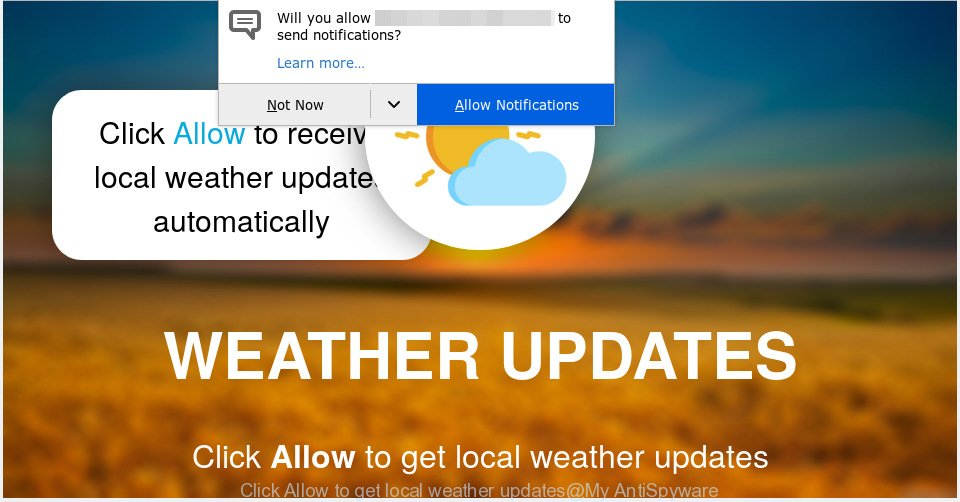Click Allow to get local weather updates