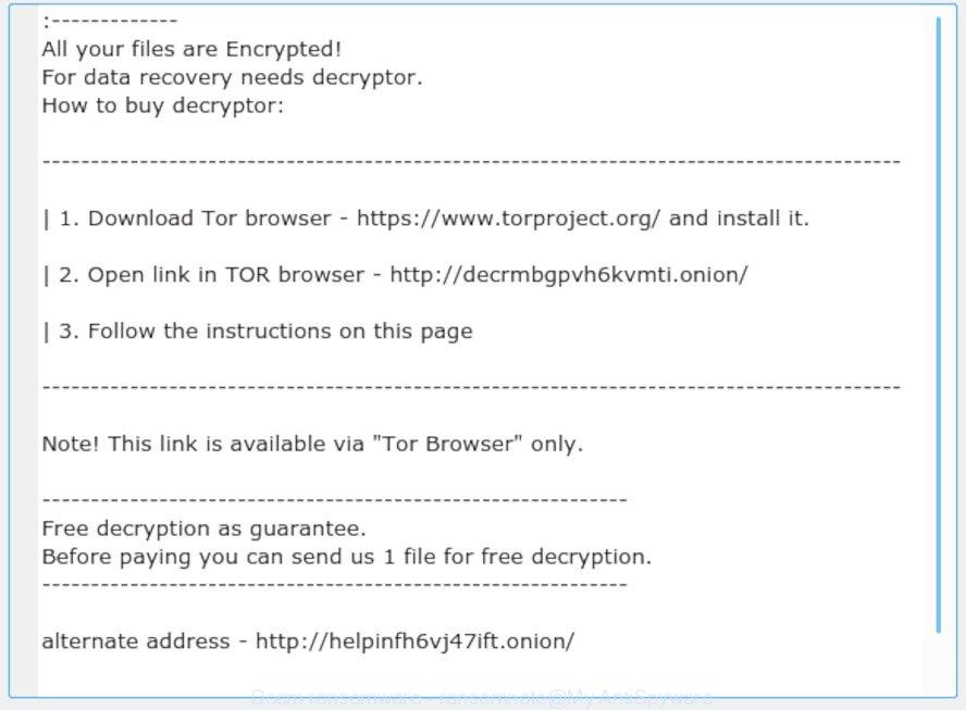 Docm ransomware - ransomnote