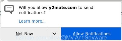 Y2mate.com - 'Allow notifications' pop-up