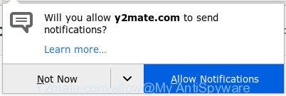 Y2mate.com - 'Allow notifications' pop-up