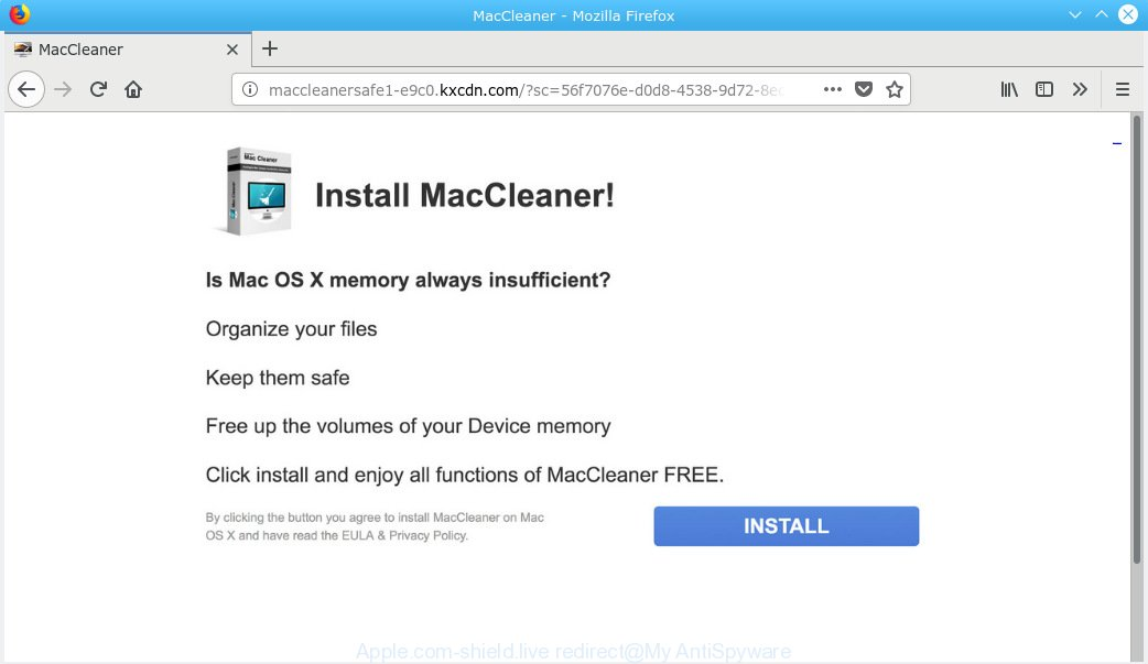 Apple.com-shield.live offers to install MacCleaner
