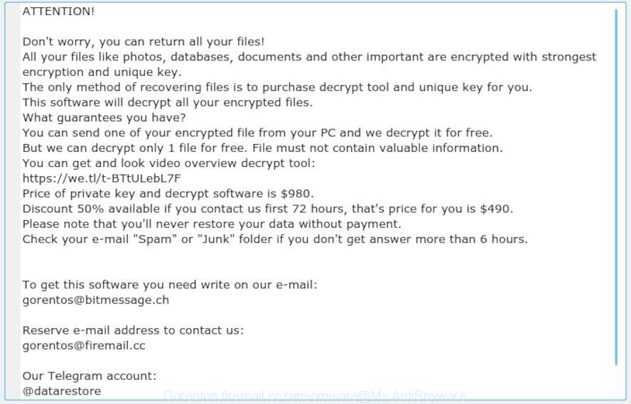 Gorentos@firemail.cc ransomware