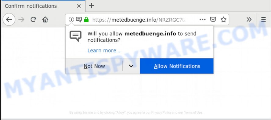 """Click on Allow to confirm push notifications"" pop-up"