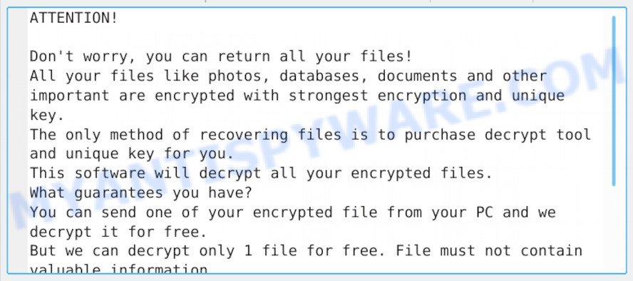Godes virus ransom note