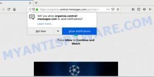 Organize.central-messages.com