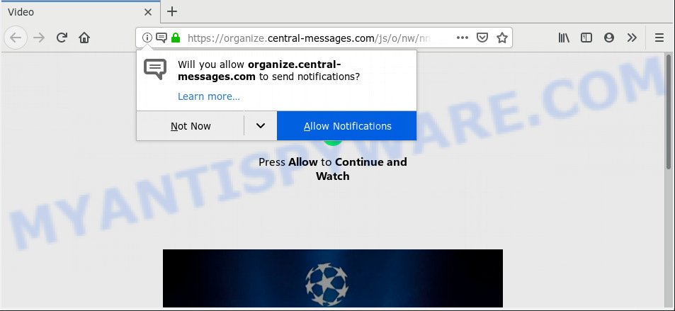 Organize.central-messages.com