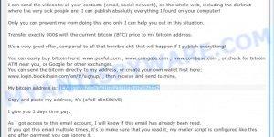 14WqqoWch8bDkFYUtxP96qUgyEQxDZhsoZ bitcoin email scam